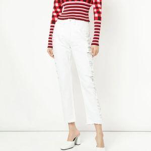 3x1 W3 White Higher Ground distressed jeans sz 28